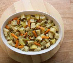 Lekkeressen -Sellerie- Eintopf, mit frischem saisonalen Gemüse