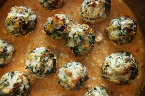 Champignons mit Spinatfüllung
