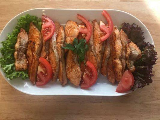Lekkeressen - Lachs vom Grill